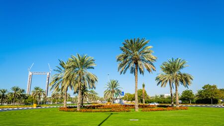 roundabout: Roundabout in Zabeel district of Dubai, UAE Editorial