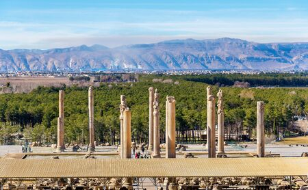 iran: View on Persepolis from the Tomb of Artaxerxes III - Iran