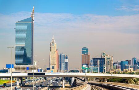 emirates: Skyscrapers in Dubai Downtown, United Arab Emirates