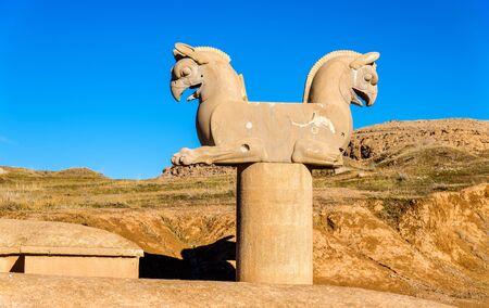 griffin: Achaemenid griffin at Persepolis - Iran
