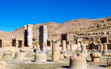 alexander great: Hall of Hundred Columns in Persepolis - Iran