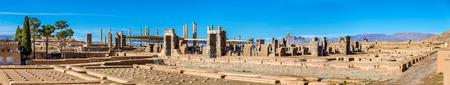 treasury: Ruins of Imperial Treasury at Persepolis - Iran Stock Photo