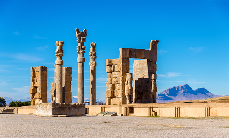 Uitzicht van de Poort van alle Volkeren in Persepolis - Iran