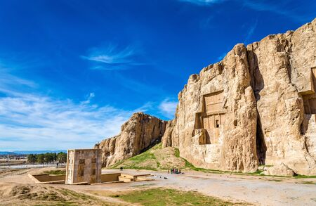 shiraz: Ancient tombs of Achaemenid kings at Naqsh-e Rustam in northern Shiraz, Iran.