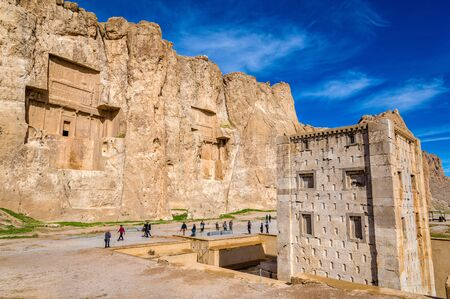 fars: Ancient tombs of Achaemenid kings at Naqsh-e Rustam in northern Shiraz, Iran.
