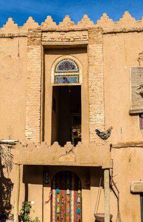 fars: Facade of a rural house in Marvdasht - Iran Stock Photo