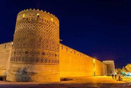 iran: Karim Khan citadel at night in Shiraz - Iran