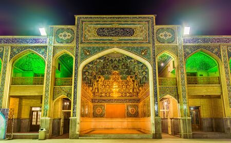 shiraz: Court of Shah Cheragh mosque in Shiraz, Iran.