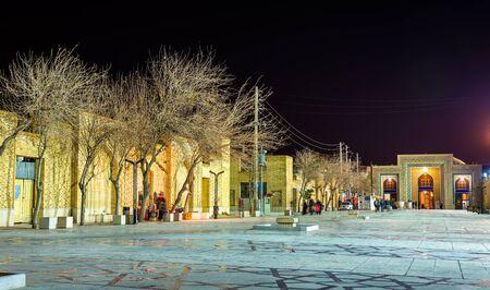 iran: Ahmadi street in Shiraz at night - Iran