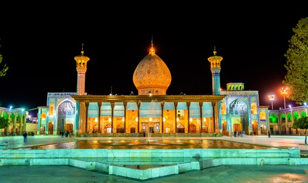 shiraz: Shah Cheragh, a funerary monument and mosque in Shiraz, Iran.