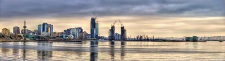 baku: View of Baku by the Caspian Sea - Azerbaijan