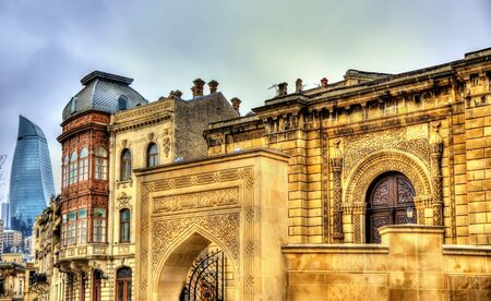 baku: Juma Mosque in the old town of Baku - Azerbaijan