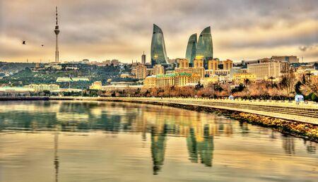 caspian: View of Baku by the Caspian Sea - Azerbaijan