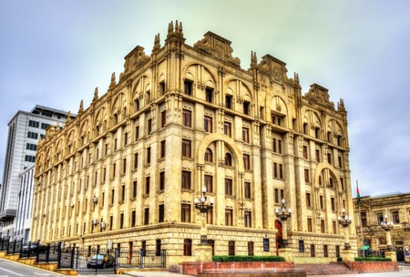 affairs: Ministry of internal affairs building in Baku, Azerbaijan Stock Photo