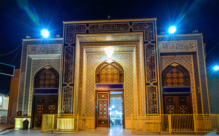 shah: Shah Cheragh, a funerary monument and mosque in Shiraz, Iran.
