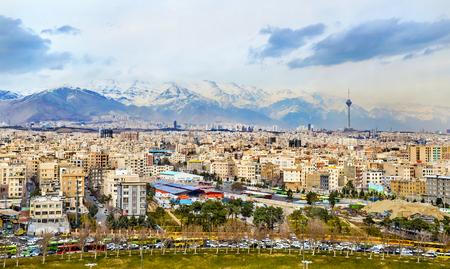View of Tehran from the Azadi Tower - Iran Stock fotó