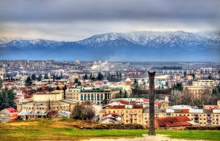kutaisi: View of Kutaisi from Bagrati Cathedral - Georgia Stock Photo