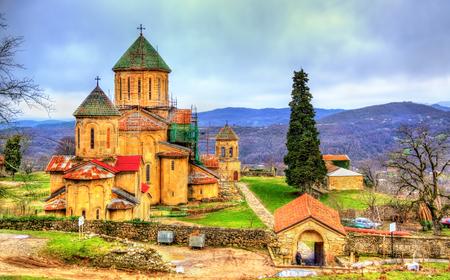 Gelatiklooster in de Kaukasus in de buurt van Kutaisi - Georgië. Stockfoto