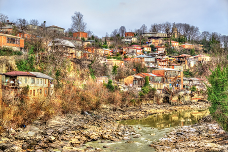kutaisi: View of Kutaisi above the Rioni river in Georgia
