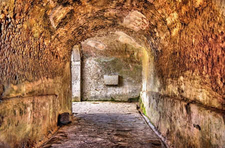 amphitheatre: Interior of the Amphitheatre of Pompeii - Italy Stock Photo