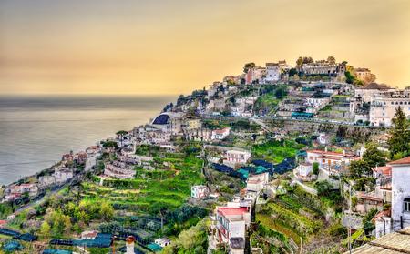 View of Ravello village on the Amalfi Coast in Italy Stock Photo