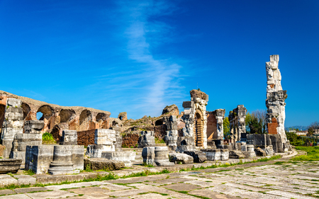roman amphitheater: The Amphitheater of Capua, the second biggest roman amphitheater - Italy