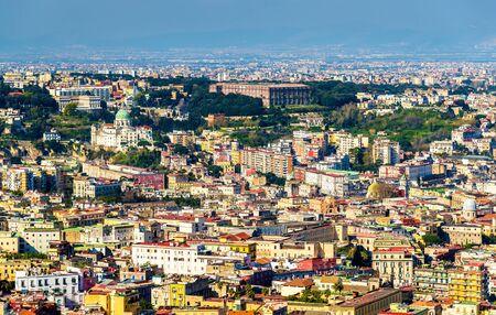 buon: View of Napoli with the Madre del Buon Consiglio Basilica and the Palace of Capodimonte