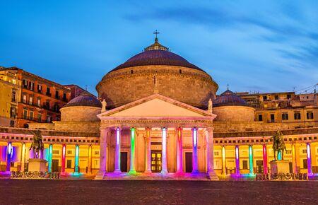 francesco: San Francesco di Paola Basilica in Naples, Italy Stock Photo