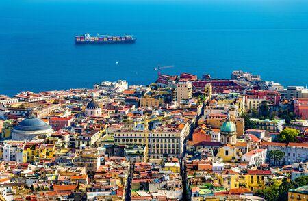 Napoli: View of the historic centre of Napoli - Italy Stock Photo