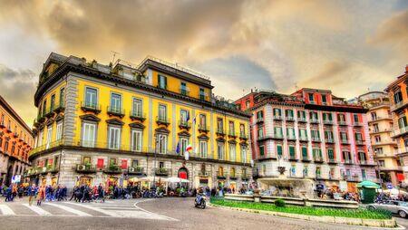 Piazza Trieste e Trento in Naples, Italy