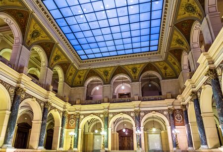 entranceway: Main hall of the Czech National Museum in Prague. Built in 1891