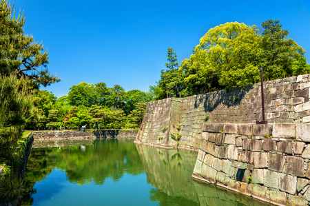 moat: Moat in Kyoto, Japan Stock Photo