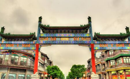 archway: View of Qianmen Memorial Archway in Beijing - China