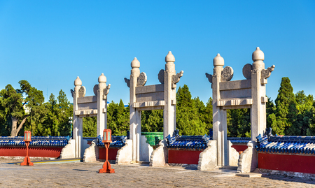 temple of heaven: Gates at the Temple of Heaven in Beijing, China