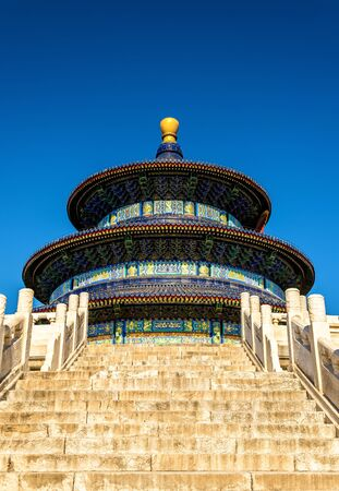 The Hall of Prayer for Good Harvests in Beijing. UNESCO World Heritage site in China Stock Photo