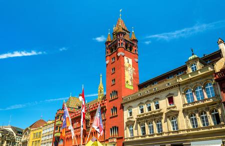 市庁舎、市庁舎のバーゼル - スイス 写真素材