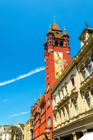 rathaus: Rathaus, the Town Hall of Basel - Switzerland