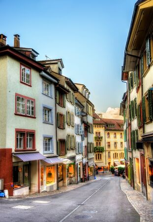 Buildings in the city centre of Basel - Switzerland