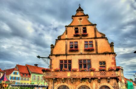 Alsace, La Metzig house in Molsheim - France Stock Photo