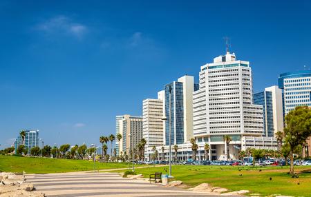 View of the Mediterranean waterfront of Tel Aviv - Israel Stock fotó