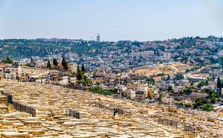 mount of olives: Mount of Olives Jewish Cemetery - Jerusalem, Israel