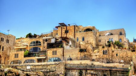 Buildings in the Jewish Quarter of the old city of Jerusalem - Israel