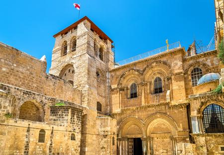 Kerk van het Heilige Graf in Jeruzalem - Israël Stockfoto