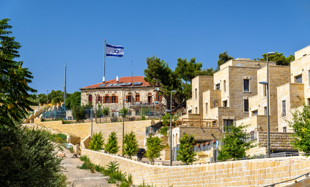 Buildings on the Mount of Olives in Jerusalem - Israel Stock Photo