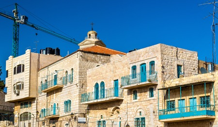 jewish houses: Buildings in the city centre of Bethlehem - Palestine