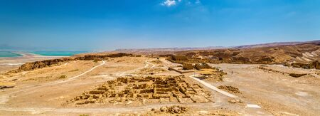 judean hills: Panorama of the Masada fortress - the Judaean Desert, Israel