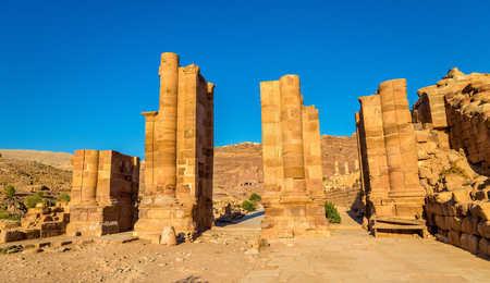 The Arched Gate in the ancient city of Petra, Jordan Stock Photo