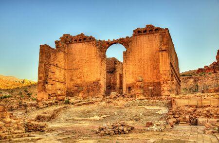 Qasr Al-Bint, a temple in Petra - Jordan