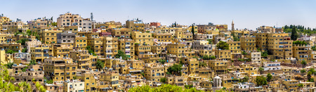 populous: Panorama of Amman, the capital and most populous city of Jordan