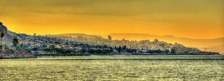 View of Tiberias and the Sea of Galilee - Israel